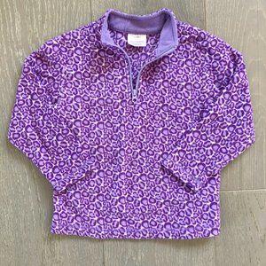 HANNA ANDERSSON 5-6 Fleece Quarter-Zip Pullover